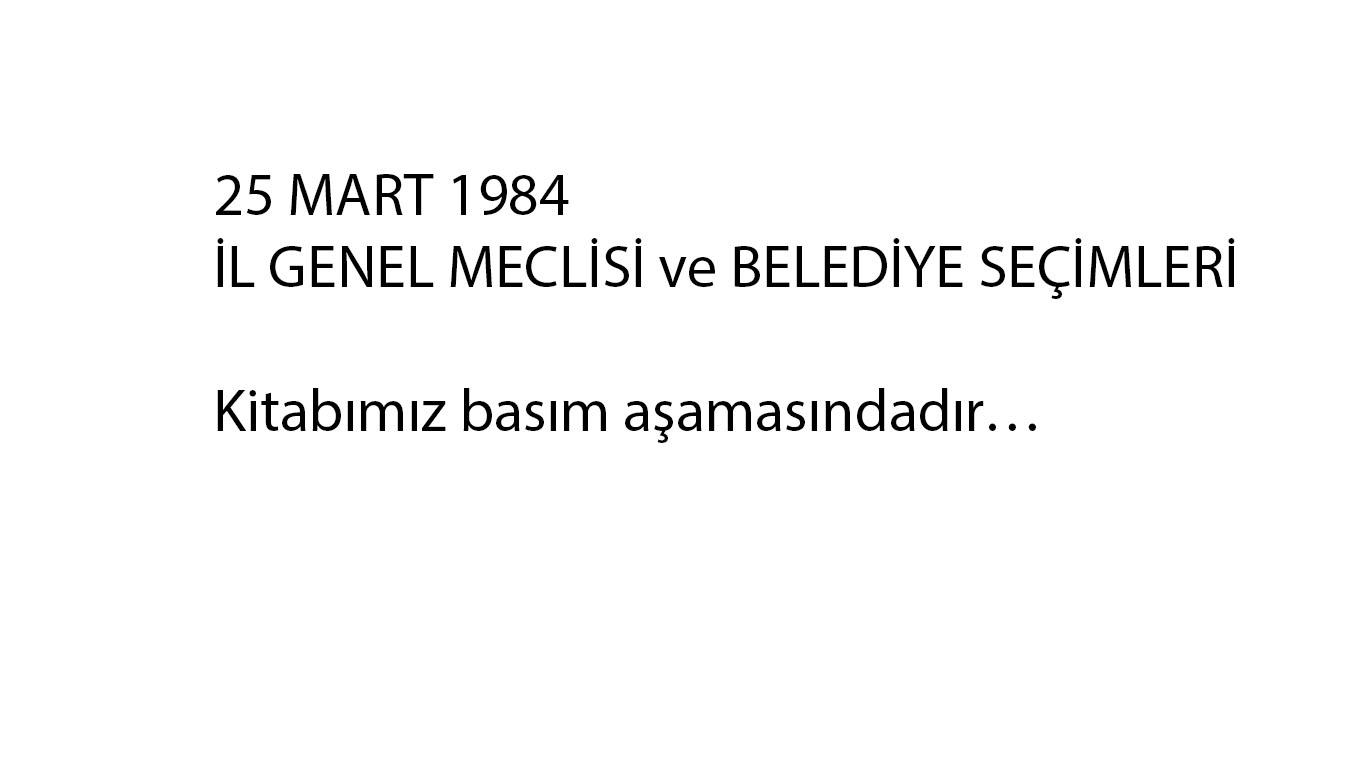 SEÇİM 1984